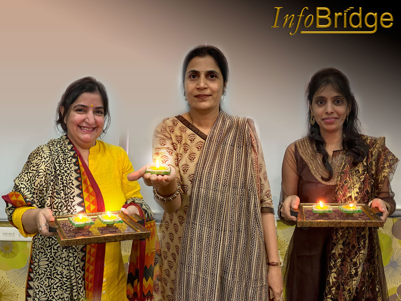 InfoBridgeTeam - Diwali Celebration at office.